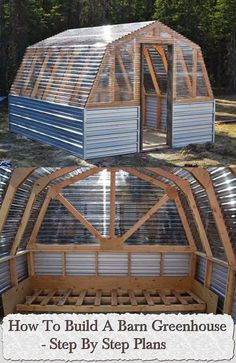 How To Build A Barn Greenhouse – Step By Step Plans....