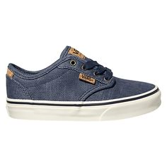 Buy Vans Children's Atwood Deluxe Washed Twill Lace-Up Shoes, Navy/White, 11 Jnr…