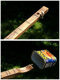 SPAMJO Canjo caja de puros Guitar Banjo por GuitarPickCollection en Etsy