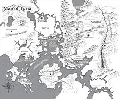 Guild Wars 2 Map of Tyira Fantasy Map Making, Fantasy World Map, Dnd World Map, Imaginary Maps, Rpg Map, Map Icons, Adventure Map, Guild Wars 2, High Fantasy