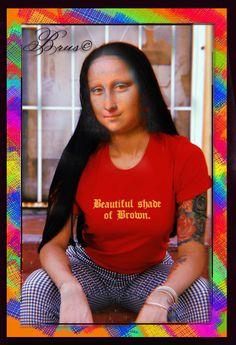 Brus© Real Mona Lisa, La Madone, Figure Painting, Amazing Women, Walls, Friends, Paper, Mona Lisa Smile, Collage Art