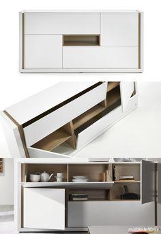 APARADOR CONNOR  ► http://bit.ly/1D4Wicv Moderno aparador de 197 cm con el diseño tan personal de esta colección de última tendencia y estilo nórdico.