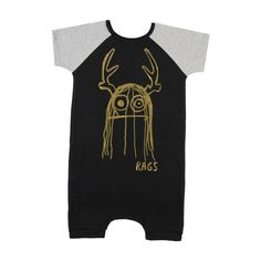 Trinny, everyone's favorite monster, is making a shiny comeback! This oldie but goodie features a black body, grey raglan sleeves, black elastic, and gold foil Trinny graphic. Ready or not, this monster is ready to party.