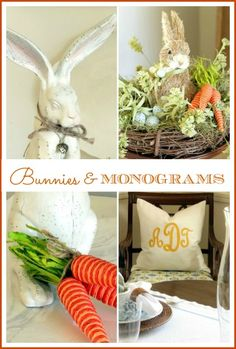 Bunnies, Monograms and Spring