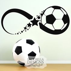 """""""Infinity Soccer Ball"""" www.lacybella.com wall decal sticker home decor infinity symbol sign"""