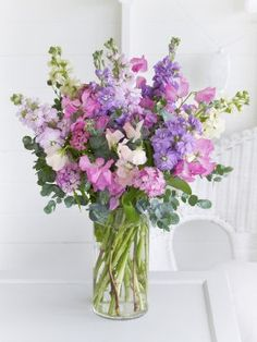 Sweet Pea and Stock Hand-tied LOVE