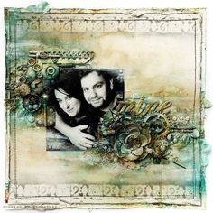 This is a great blog for mixed media artists and artsy scrapbookers!