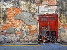 George Town was my favorite part of Malaysia. The streets are lined with British colonial houses. The food is to die for. And the street art is so cool.