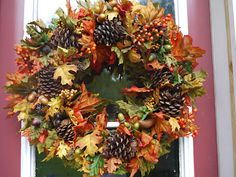 Fantastic fall wreath for 25 dollars
