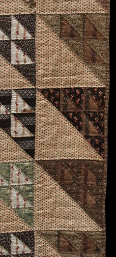 birds in the air   The Quilt Complex -- note plaids, geometries, in subdued colours.