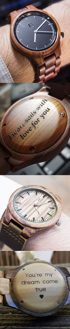 Mens gift- Mens Personalized Wooden Watch Red Sandal Wood, boyfriend gift birthday/Anniversary Gift, gift ideas for groomsmen/husband/father