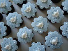 cupcake batizado - Pesquisa Google