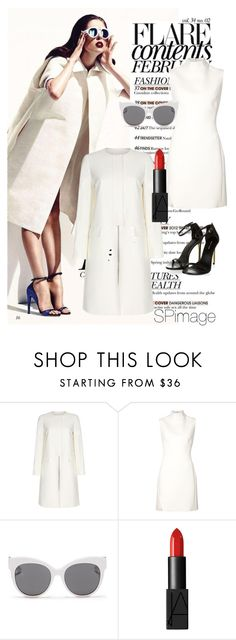 """""""Winter white #Outfit inspiration"""" by sp-image ❤ liked on Polyvore featuring Paul Smith, Thierry Mugler, Blanc & Eclare and NARS Cosmetics"""