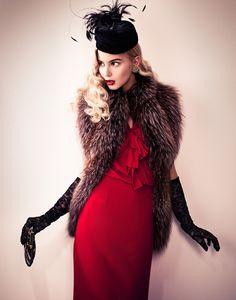 40,S by Jose Herrera, via Behance  #fashion #40sfashion #red #vintagefashion