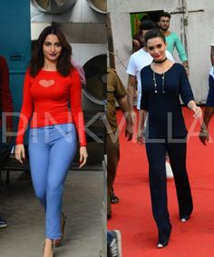 Spotted: Tamannaah Bhatia and Amy Jackson clicked at a popular studio