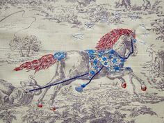 Richard Saja embroidery on toile
