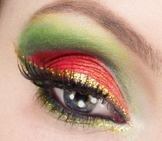 Christmas makeup idea