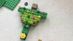 Enfeites de Natal feitos de Lego