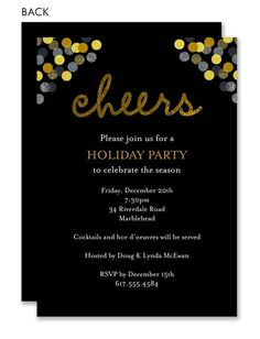 Invite your guests in style with these Christmas party invitations