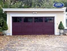 Infinity Classic Model I002S WG Mahogany PC Finish Garage Door