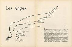 Jean Cocteau 1945 ''Les Anges'' Angel Wing