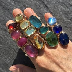 Colors that speak volumes...Rings by Jamie Joseph @QUADRUM