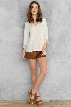 Karen Crochet Blouse $38.00