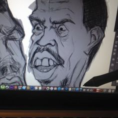 WIP (work in progress) working ahead of schedule for next weeks caricature as work piles up. Will soon be working on some South African political stuff too soon. - http://ift.tt/1HQJd81