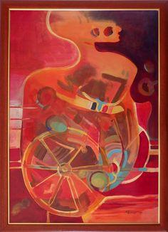 Ladislav Majoroši - Ty, akryl na lepenke, 100 x 70 cm, 2007