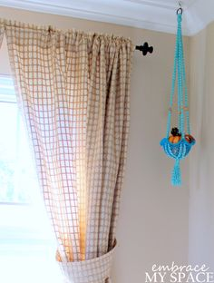 Why Buy When You Can DIY?: (Faux) Macramé Plant Holder #macramé #planthanger #plantholder