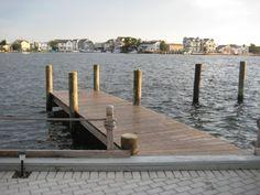 Our dock on the bay in Ocean Beach, NJ