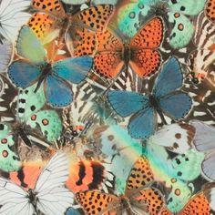 Stretch jersey digital print sommerfugle