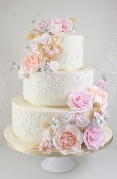 small wedding cakes Wedding Cakes - The Fairy Cakery - Cake Decoration and Courses based in Wiltshire Wedding Cake Fresh Flowers, Small Wedding Cakes, Floral Wedding Cakes, Elegant Wedding Cakes, Beautiful Wedding Cakes, Wedding Cake Designs, Beautiful Cakes, Rustic Wedding, Fall Wedding