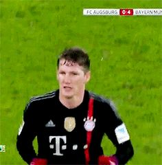 Bastian Schweinsteiger showed just how much of a joker he can be after pretending to high-five Bayern Munich teammate Rafinha while being substituted – before leaving him hanging.