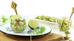 Verrines Cabillaud, Avocat, Citron Vert & Coriandre {Façon Ceviche}
