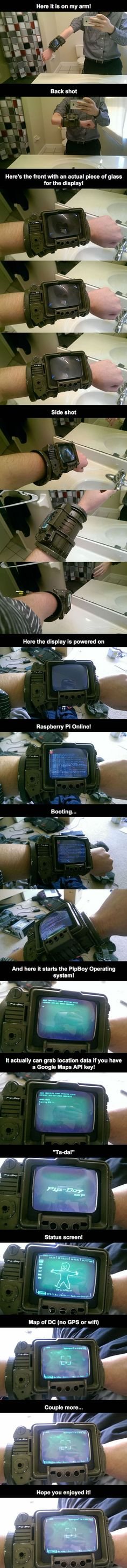 PipBoy 3000A using Rasberry Pi