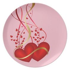 Holiday Plastic Plate-Valentine Hearts Melamine Plate  sc 1 st  Pinterest & Holiday Plastic Plate-Holly Melamine Plate | Plastic plates and Holidays
