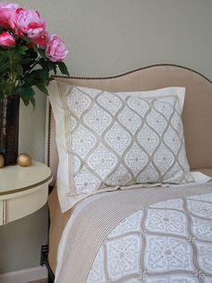 Vanilla Glacé ~ White Gold Romantic Elegant Luxury Pillow Sham