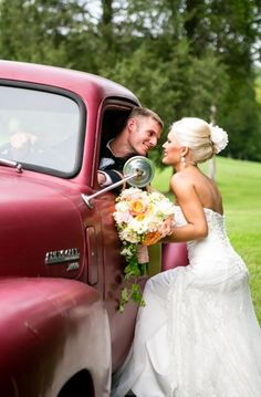 Wedding Photo: Rustic Wedding Car // Photo by: The Collection on Every Last Detail
