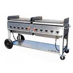"Crown Verity Mobile Outdoor Griddle 72"" - Nat Gas."