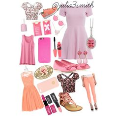 Pretty in pink by julia3smith on Polyvore featuring polyvore, fashion, style, AX Paris, Disney, Uniqlo, J Brand, NIKE, mi.im, Allurez, Janna Conner, 1928, Mykita, Tory Burch, Kate Spade, NYX and Essie