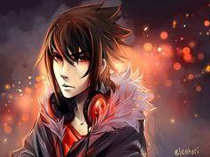 Casual Sasuke.  Art by elentori #sasuke #uchiha