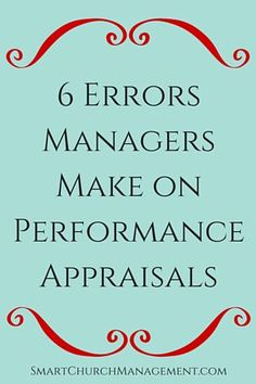Tips For Writing And Giving Performance Appraisals  Church Human