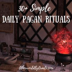 Not sure how to incorporate your pagan spirituality into daily life? Not sure how to incorporate your pagan spirituality into daily life? Here's my list of 30 simple daily pagan rituals to implement in your routine. Norse Pagan, Pagan Witchcraft, Pagan Men, Hoodoo Spells, Pagan Gods, Pagan Altar, Witch Rituals, Pagan Beliefs, Witchcraft For Beginners