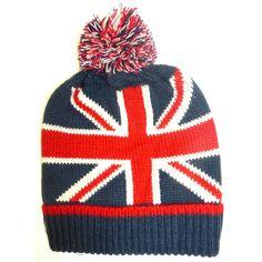 Union Jack Flag Pom Knit Beanie Hat - - Little British Shop                                                                                                                                                                                 More