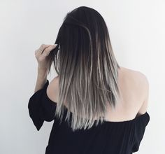 grombre tresses (grey + ombre) | www.fashionlush.com #hair #ombre #hairpainting…