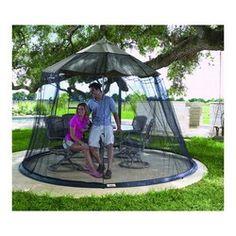 Mosquito Net Patio Umbrella Net   Sets Up Easily Over A Standard Patio  Umbrella   Enjoy