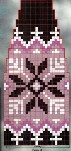 Схема вязания жаккардовая шапочка с помпоном раздел спицами вязаные шапки, береты спицами схемы Crochet Gloves Pattern, Knitting Paterns, Fair Isle Knitting Patterns, Cable Knitting, Fair Isle Pattern, Crochet Stitches Patterns, Knitting Charts, Knitting Stitches, Knitting Designs