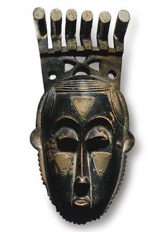 Owie Kimou, Portrait Mask (Mblo) of Moya Yanso (Baule peoples) (article) Arte Tribal, Tribal Art, African Masks, African Art, Ap Art History 250, African Museum, Masks Art, Art Institute Of Chicago, Aboriginal Art