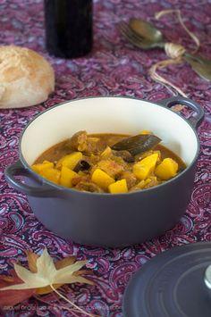 #receta de #estofado de #ternera con #shiitake #patatas y #hierbas #aromaticas en la #cocotte #lecreuset del #blog #pimientosverdes